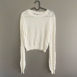 ‼️ Zara knit lace summer top